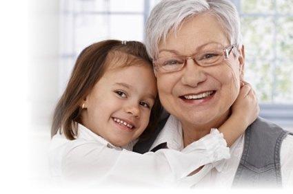 Grandma and little girl treated family dentistry at Osborne Family Dental